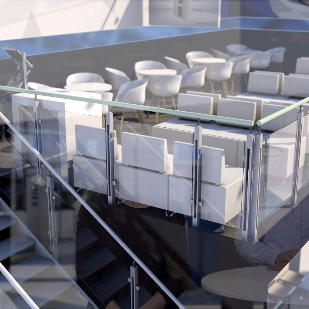 Webcast technoform Messestand 3D-Animation